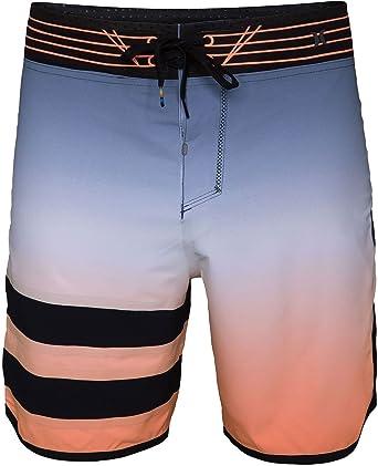 Amazon.com  Hurley Mens Phantom Fuse 3 Fade Boardshorts Blue Orange ... 6101a9b4a15