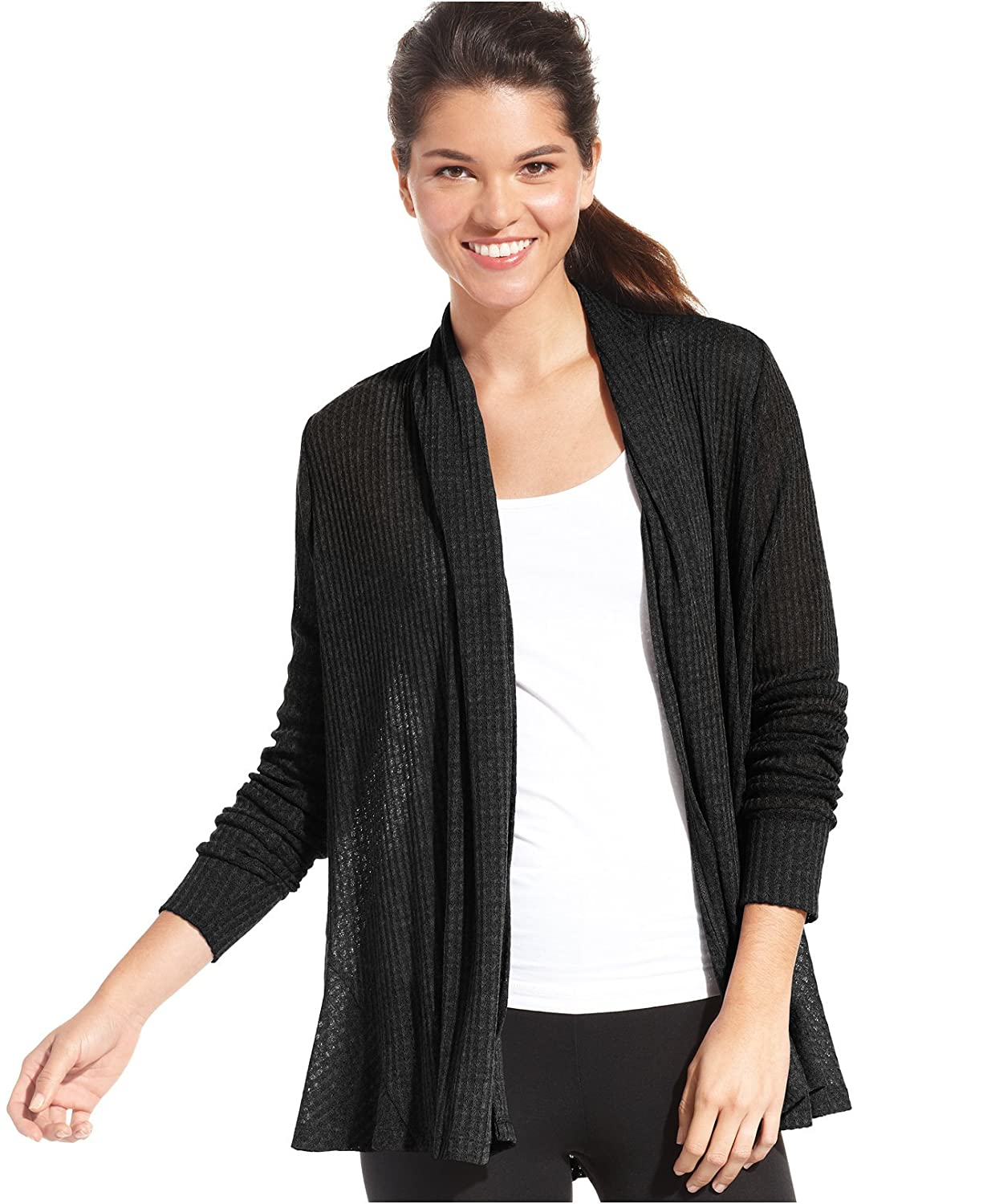 Ideology Women's Draped Open Front Cardigan Sweater
