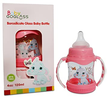goglass borosilicate glass baby bottle 4 oz bpa free with extra nipple included free pink - Best Glass Baby Bottles