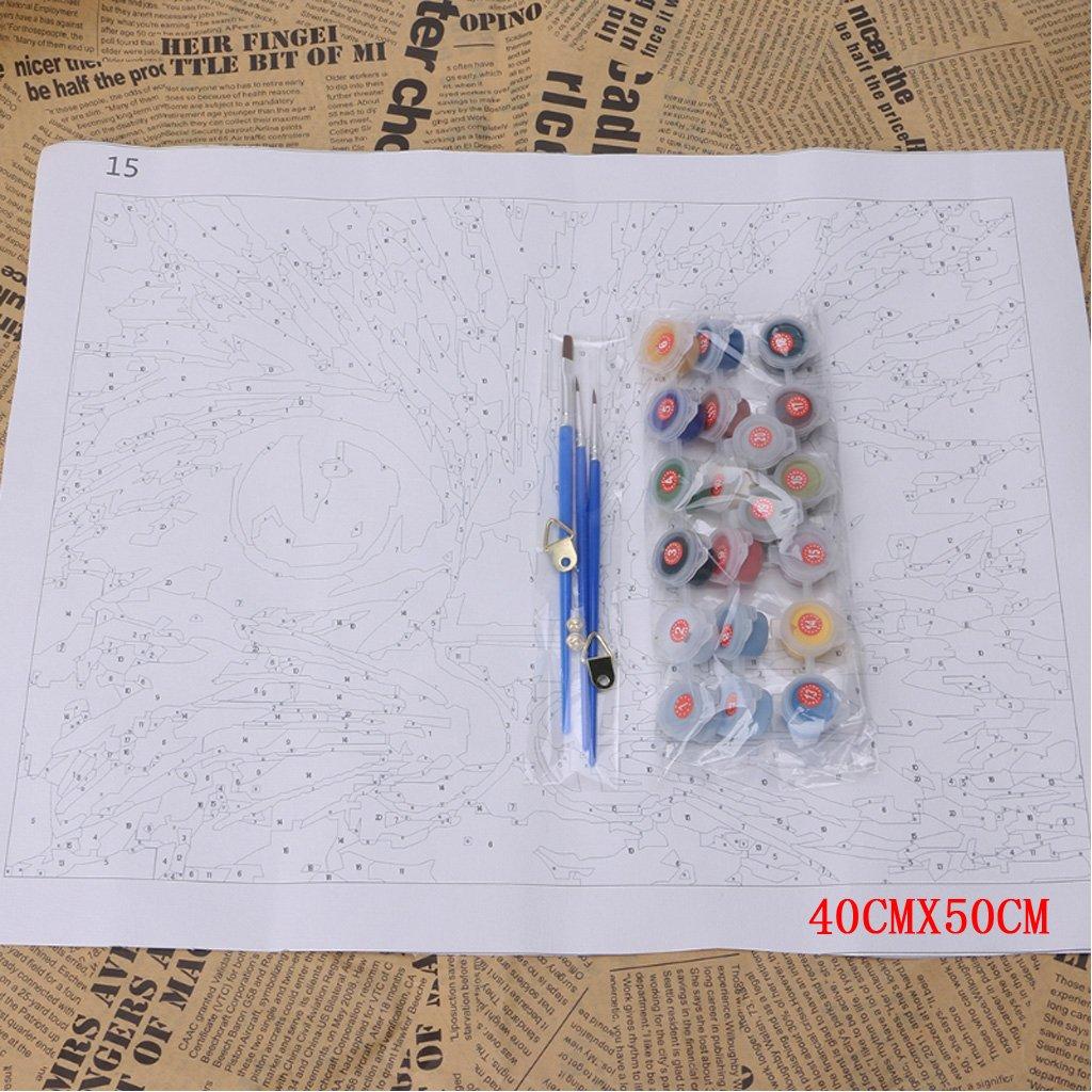 Senza Telaio Xurgm Flamingo DIY Pittura a Olio con Numeri Pittura Vernice Disegno con Pennello 16 20 Pollici Decorazione Regalo