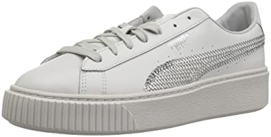 size 40 6cda0 b801c Amazon.com | PUMA Basket Platform Bling Kids Sneaker | Sneakers