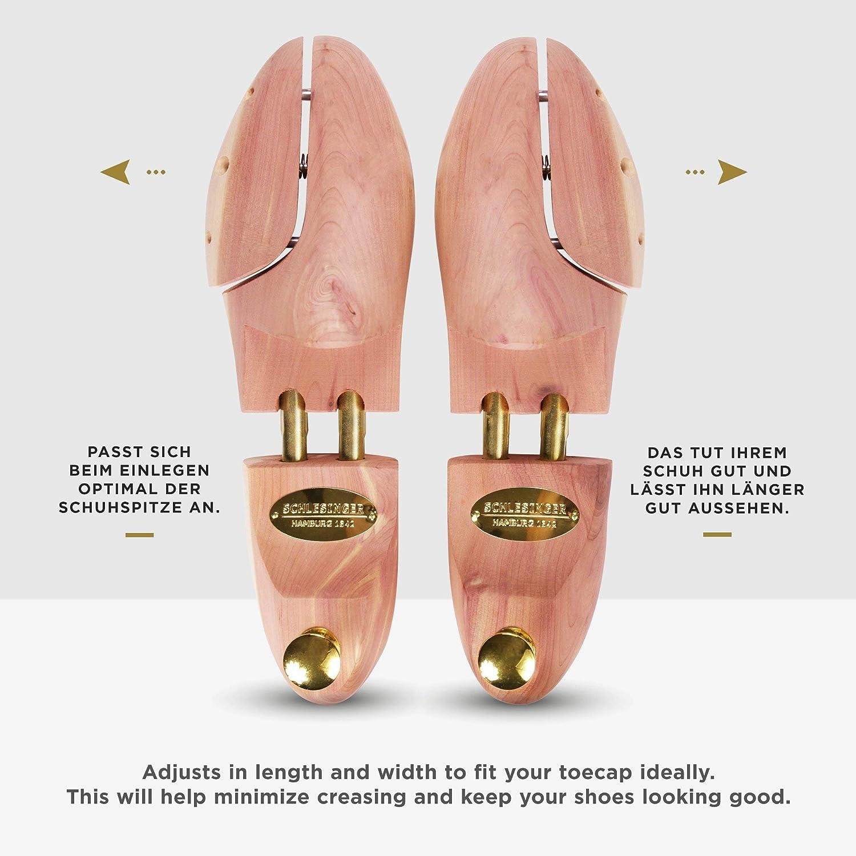 Schlesinger Mod/èle /«/Kaiser//» 4 paires embauchoir de marque en bois de c/èdre pr/écieux pour hommes pour un entretien optimal des chaussures 52 couleur argent ou or. Pointures 35