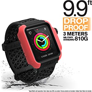 Designed for Apple Watch Impact Case 42mm Series 3 & 2 Rugged Protective Case by Catalyst, Drop Proof Shock Proof Impact Resistant Designed for Apple Watch Case, Coral