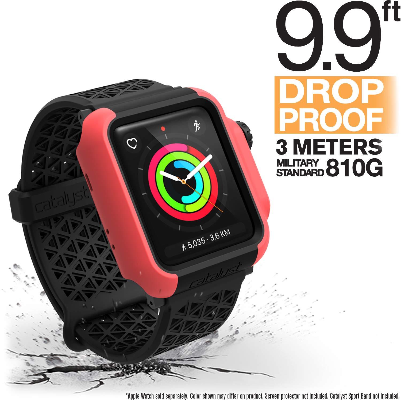 Catalyst para Apple Watch Series 3 y Serie 2 de 42mm - Protección contra Impactos a Prueba de Golpes [Caja Protectora Robusta iWatch], Rosa Coral