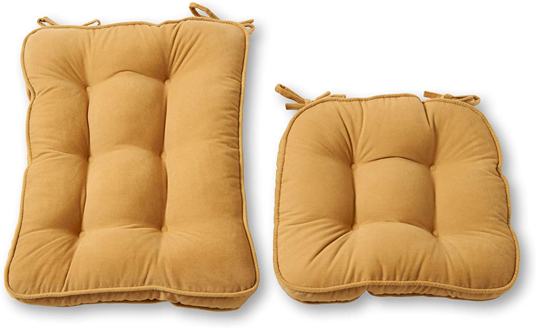 Greendale Home Fashions Hyatt 2-Piece Standard Rocking Chair Cushion Set, Beige