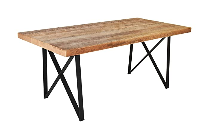Amazon.com: Dining Table reclaimed wood top and our modern ...