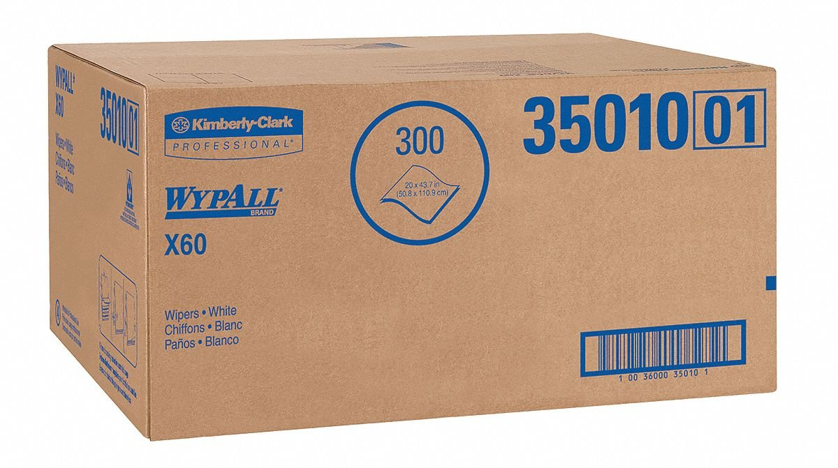 X60 Hydroknit(R) Disposable Towels, 100 Ct. 20'' x 43-3/4'' Sheets, White