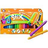Artline Stix Brush Markers, Assorted Color Set of 20