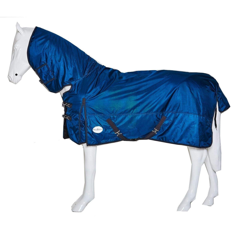 Teal UK 5'3   EU 110cm   63\ Teal UK 5'3   EU 110cm   63\ Horse Pony Turnout Rug Heavy Weight Combo Waterproof 200g 1680D Full Fixed Neck