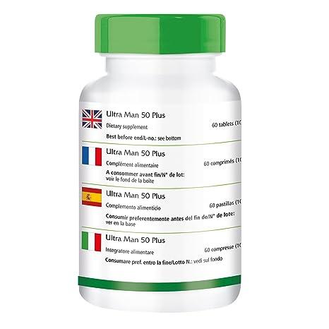 Ultra Man 50 Plus - para 1 mes - Alta dosificación - 60 comprimidos de multiVitaminas para los hombres - más de 50 ingredientes: Amazon.es: Salud y cuidado ...