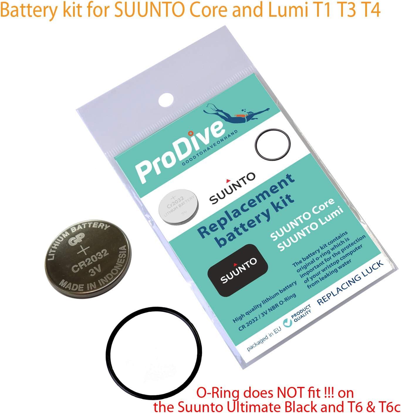 Battery kit for Suunto Core Lumi T4 T3 T1