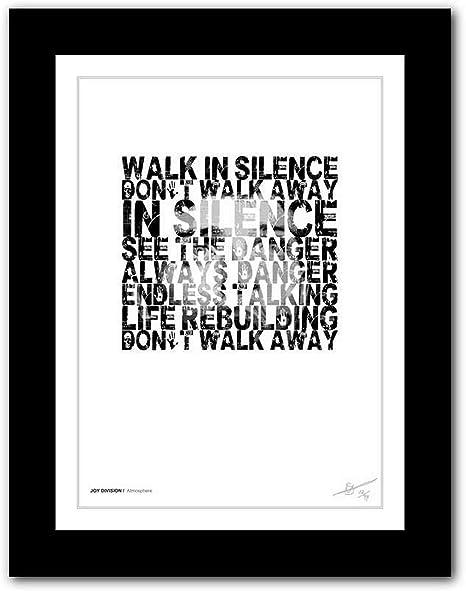 Imaginez chanson paroles Imprimé Poster sans cadre Wall Art Decor Cadeau Typographie