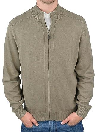 Redmond - Gilet zippé en Coton Beige Grande Taille Homme - Beige   Amazon.fr  Vêtements et accessoires d6738dadcf7e