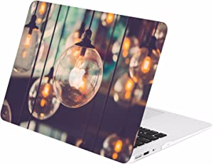 "TOP CASE - Retro Series Rubberized Hard Case Compatible Older Generation MacBook Air 13"" A1369 / A1466 (Release 2010-2017) - Brilliant Light"