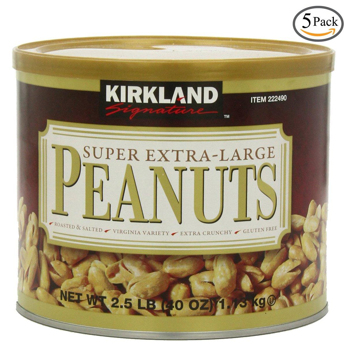 Kirkland Signature Super XL VA Peanuts, 40 Ounce, 4 Pack