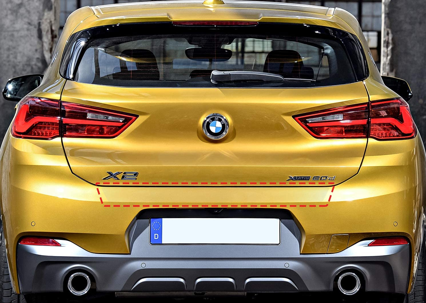 type f39 Paint Protection Film Bumper Protector Film Fit For BMW x2