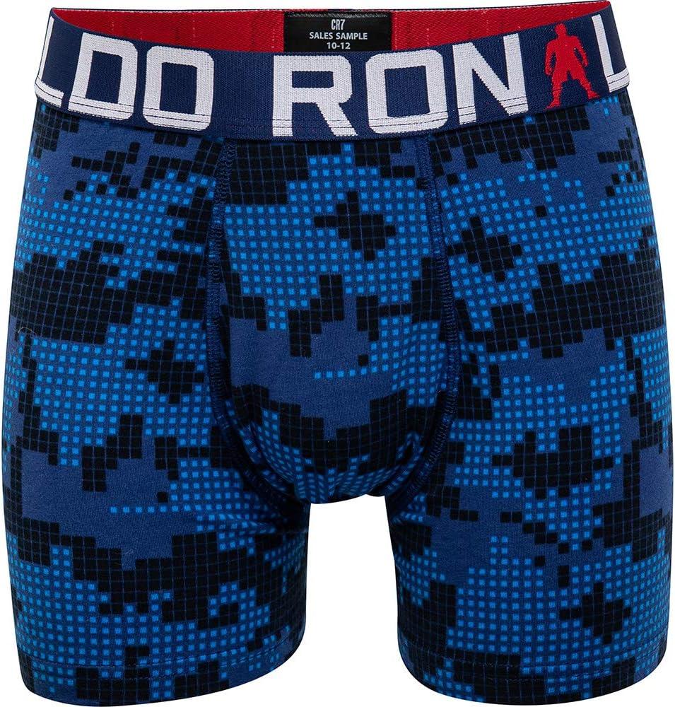 CR7 Cristiano Ronaldo Boys Tight Boxer Shorts Line Trunk Pack of 2