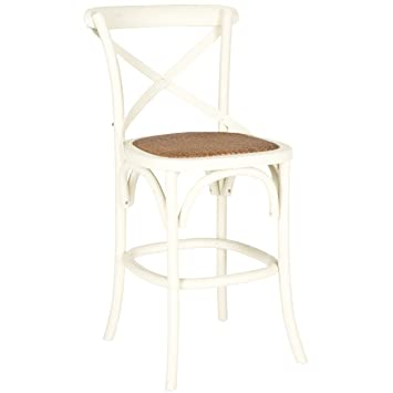 Phenomenal Safavieh American Homes Collection Franklin Counter Stool Antique White Lamtechconsult Wood Chair Design Ideas Lamtechconsultcom