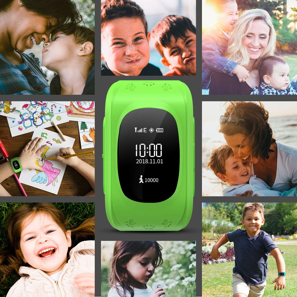 Kid Smart Watch, Wonbo Soft Silicone GPS Tracker with SIM Slot SOS Call Real-time Location Finder Anti-Lost Alarm Remote GPS & LBS Monitor Watch Remove Alert for Boys Girls Support Android & iOS