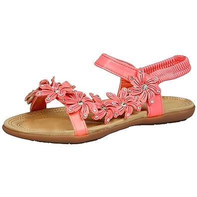 82c7d1d34c5 Feet First Fashion Muriel Womens Flats Low Heel Cushion Fluorescent Pink 3  UK 36 EU