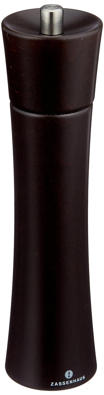 bef/üllt aus Buchenholz Wenge dunkelbraun mit stufenlos verstellbarem Hochleistungs-Keramikmahlwerk Zassenhaus Pfefferm/ühle Frankfurt 14 cm