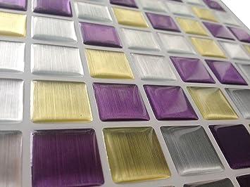 Tile sticker piastrelle adesive con motivo d in gel a mosaico