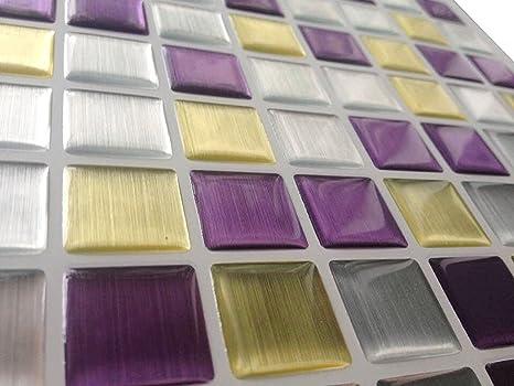 Tile & sticker piastrelle adesive con motivo 3d in gel a mosaico