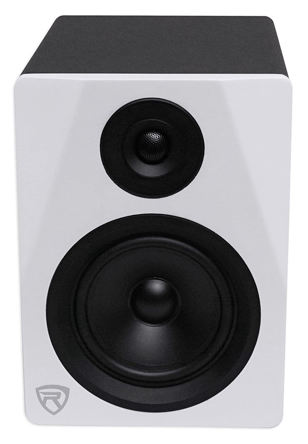 Rockville Dpm5w 525 2 Way 150w White Active Powered M Audio Bx5a Circuit Diagram Studio Monitor Speaker Musical Instruments