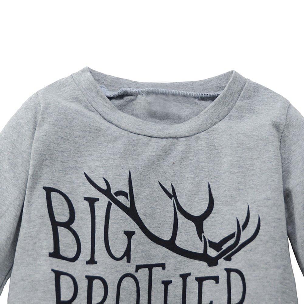 Fashhion Reindeer Antler Kids Boy Clothes Set Fashion Winter Shirt Pants Outfits