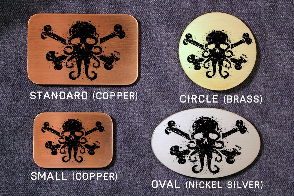 Cthulhu Pirate Flag Jolly Roger Etched Metal Belt Buckle