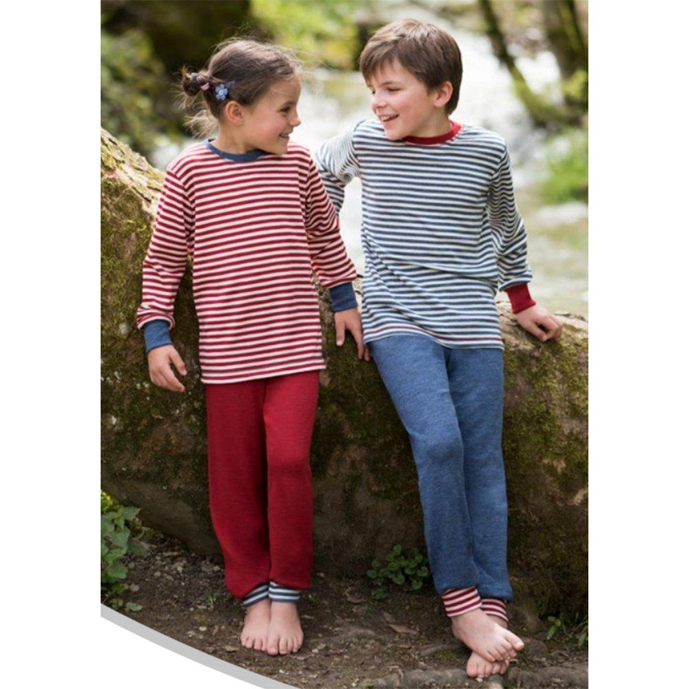 100/% Merino Wool EcoAble Apparel Kids Thermal Pajama Lounge Pants Sizes 2-8 years