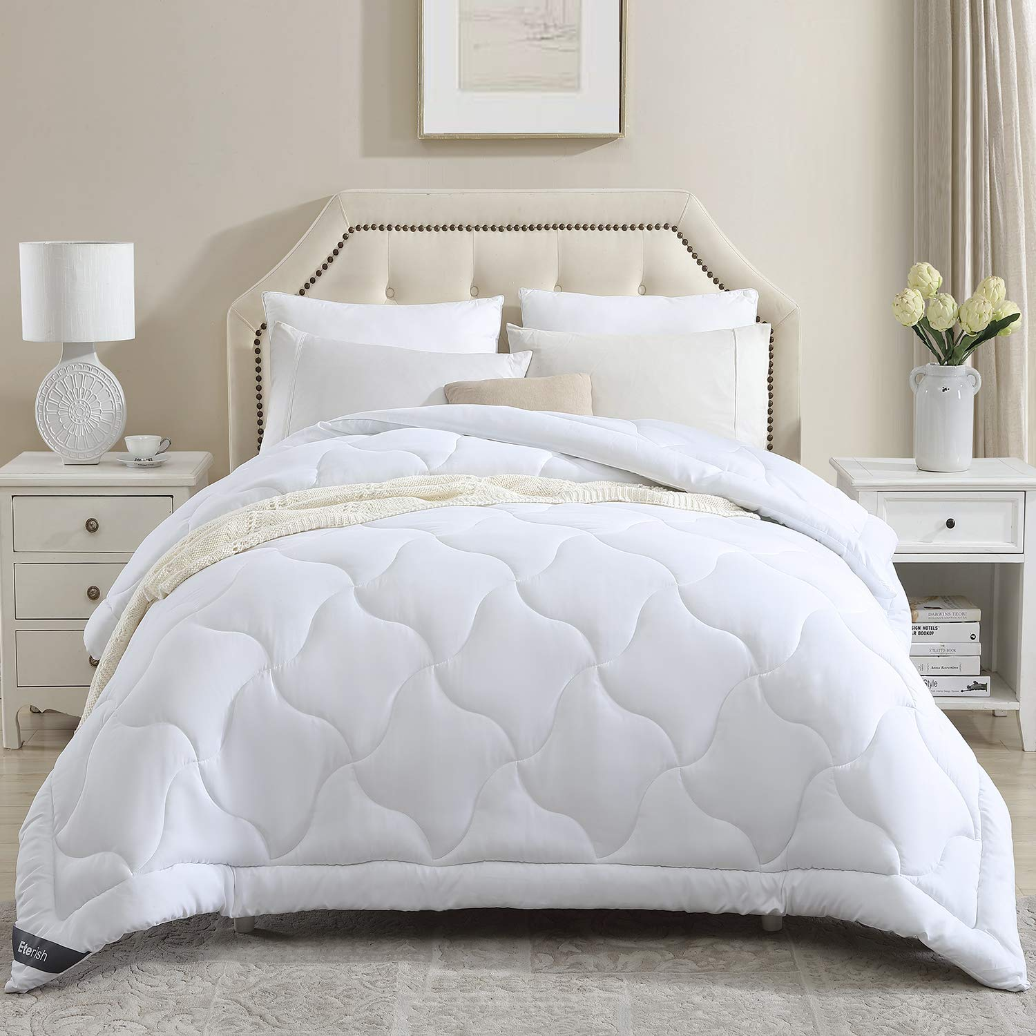 Eterish Quilted Down Alternative Comforter Twin All Season Comforters for Twin Bed