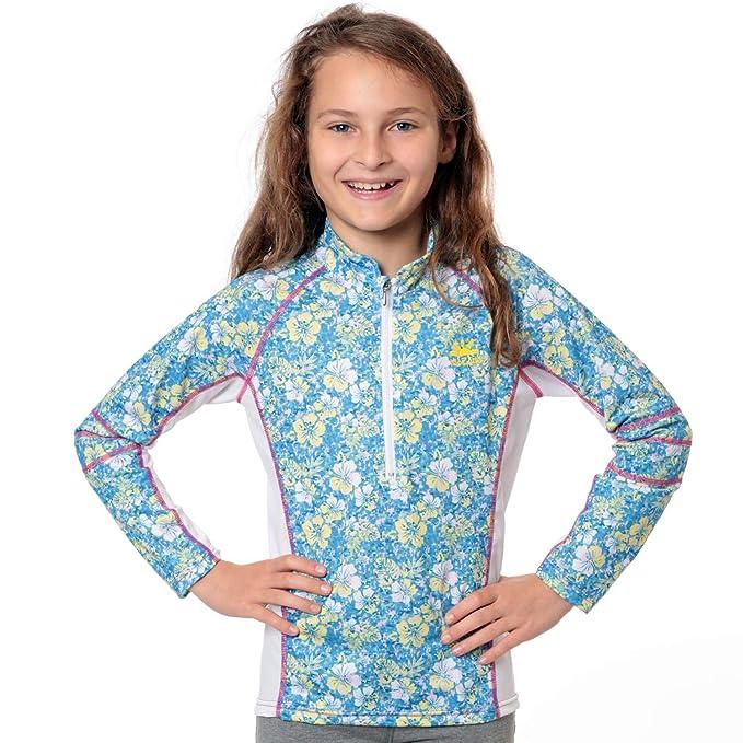 074fbf495b Nozone Girl's Long Sleeve Sun Protective Nautilus Swim Shirt - UPF 50+:  Amazon.ca: Clothing & Accessories