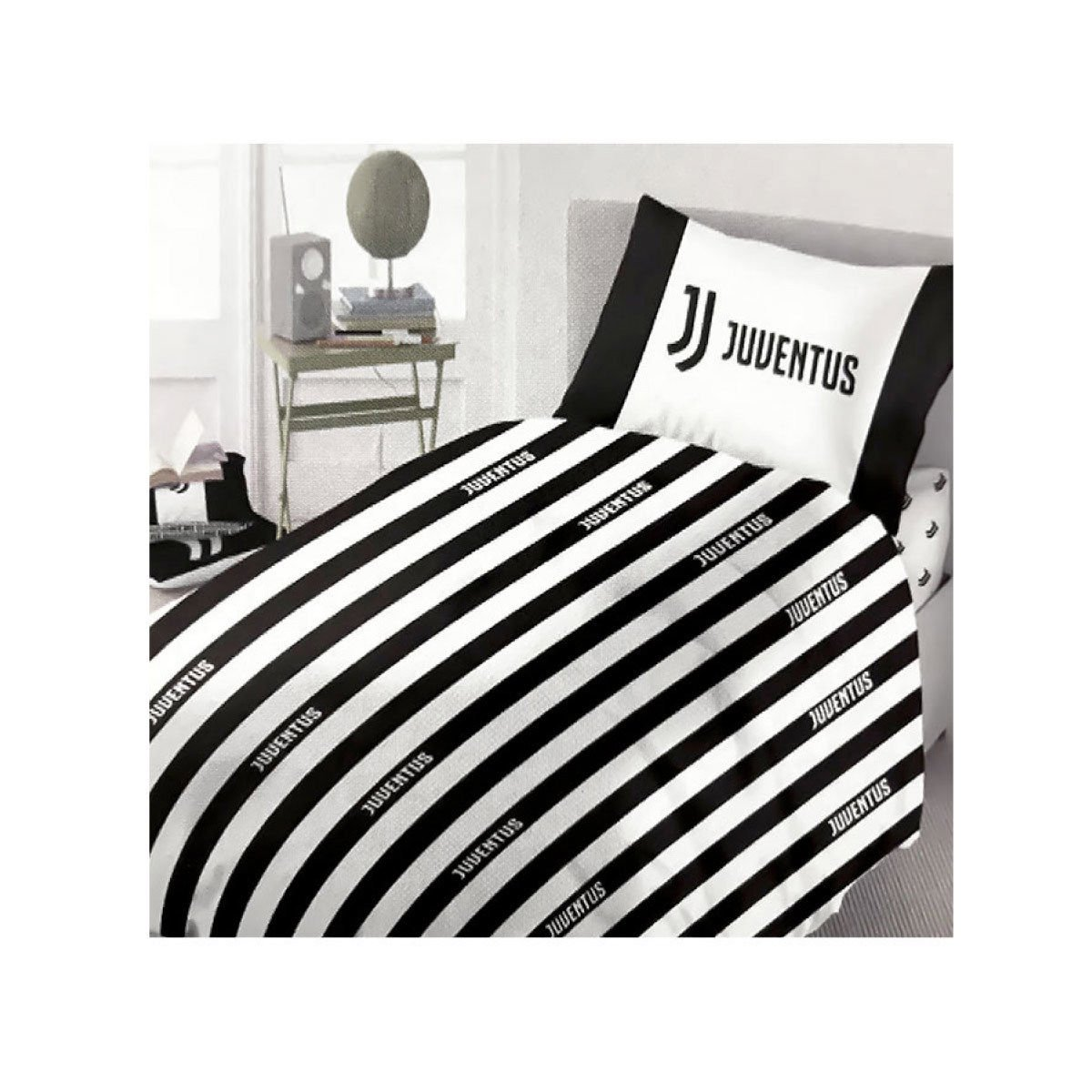 Juventus 6808 490 S001 Duvet Cover Set 100 Cotton White Black Single 50 X 40 X 2 5 Cm Buy Online In Albania Juventus F C Products In Albania See Prices Reviews And Free Delivery Over 7 500 Lek Desertcart