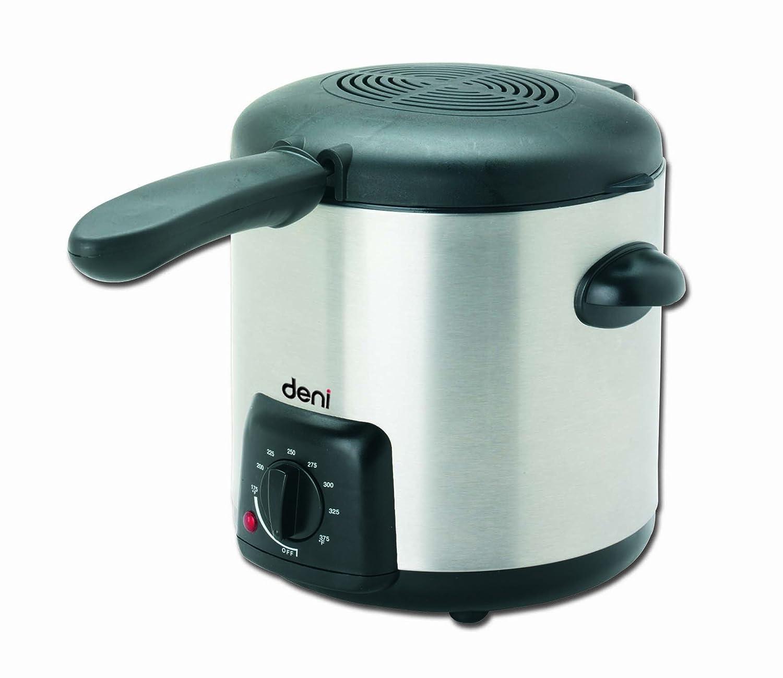 Amazon.com: Deni 9340 Mini 1-Quart Snack Fryer, Stainless: Deep ...