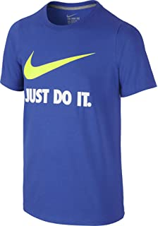 blue and white nike shirt
