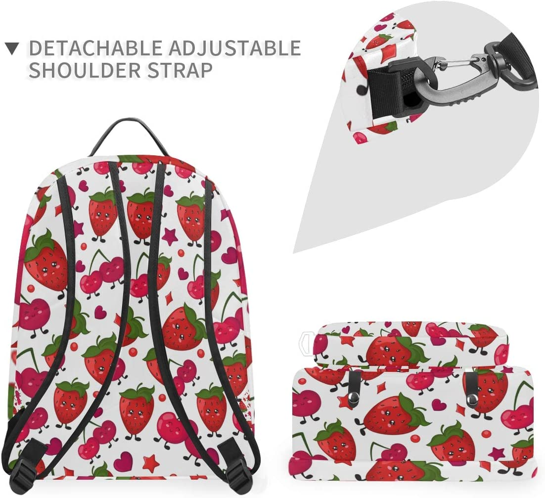 ALLMILL Seamless Vector Pattern Cakes Calligraphy School Backpack