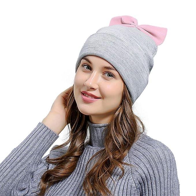 Damen Mütze Winter Tuduz Mädchen Frauen Baggy Warm Häkeln Winter