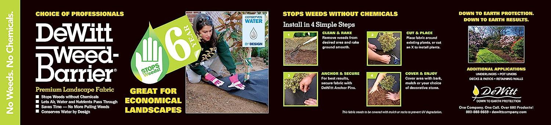 DeWitt 1.5-Ounce 6-Year Weed-Barrier Fabric, 3 x 100-Feet
