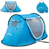 Pop Up Tent - Automatic Instant Tent - Portable Cabana Beach Tent - Fits 2 People - Windows and Doors on Both Sides…