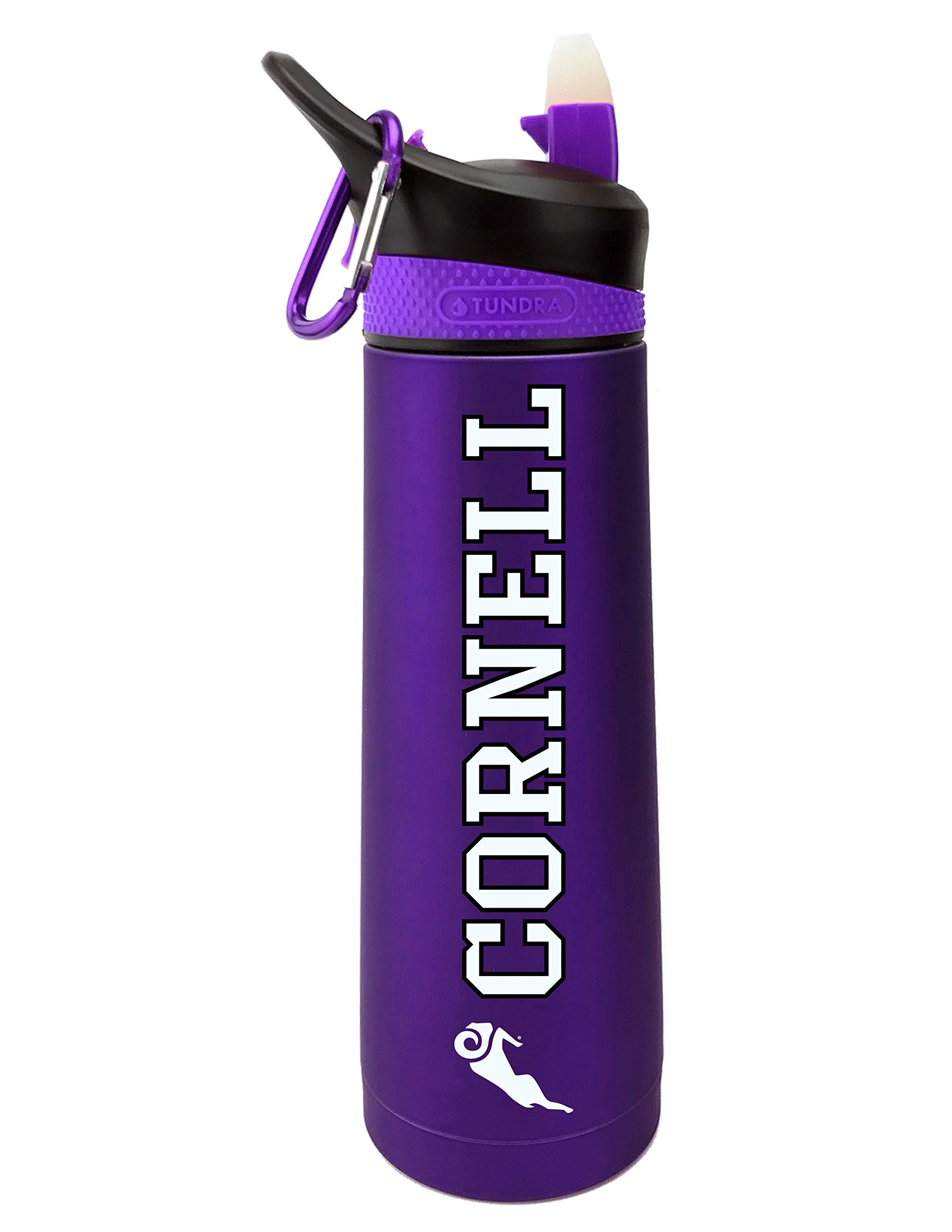 Fanatic Group Cornell College Rams Dual Walled Stainless Steel Sports Bottle, Design 2 - Purple