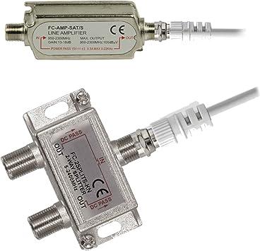 TronicXL - Amplificador + Cable Conector F + Divisor de ...