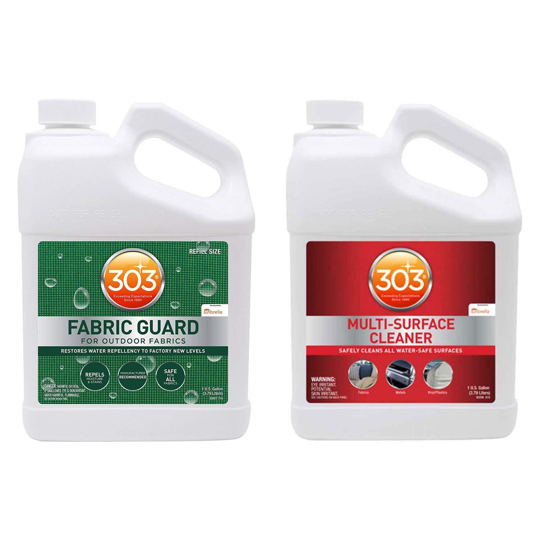 303 Non Toxic Fabric Guard Stain Protector Repellant Spray Treatment, 1 Gallon303 Non Toxic No Streak Stain Remover Multi Surface Cleaner Spray, 1 Gal. Refill