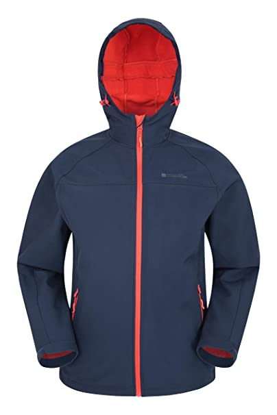 Mountain Warehouse Chaqueta Softshell Exodus para Hombre - Chaqueta Casual de diseño práctico, Impermeable, Impermeable, Dobladillo Ajustable, ...