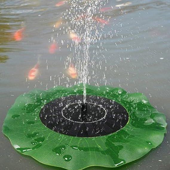 decoraci/ón de la charca del jard/ín Egomall Bomba de agua solar fuente flotante de la hoja del loto