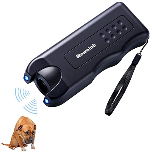 Wewalab Electronic Dog Repeller,Pet Dog Trainer with LED Flashlight, Ultrasonic Deterrent Device for Your Safety and Train Your Dog