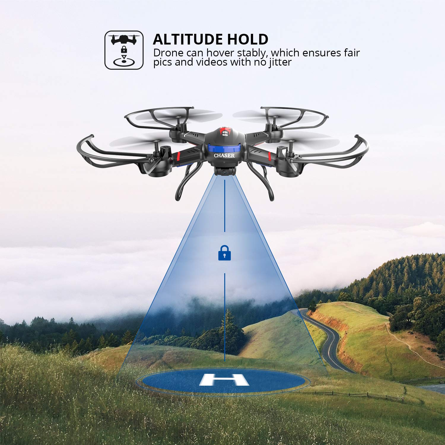 Holy Stone F181C RC Quadcopter Drone with HD Camera RTF 4 Channel 2 4GHz  6-Gyro with Altitude Hold Function,Headless Mode and One Key Return Home,