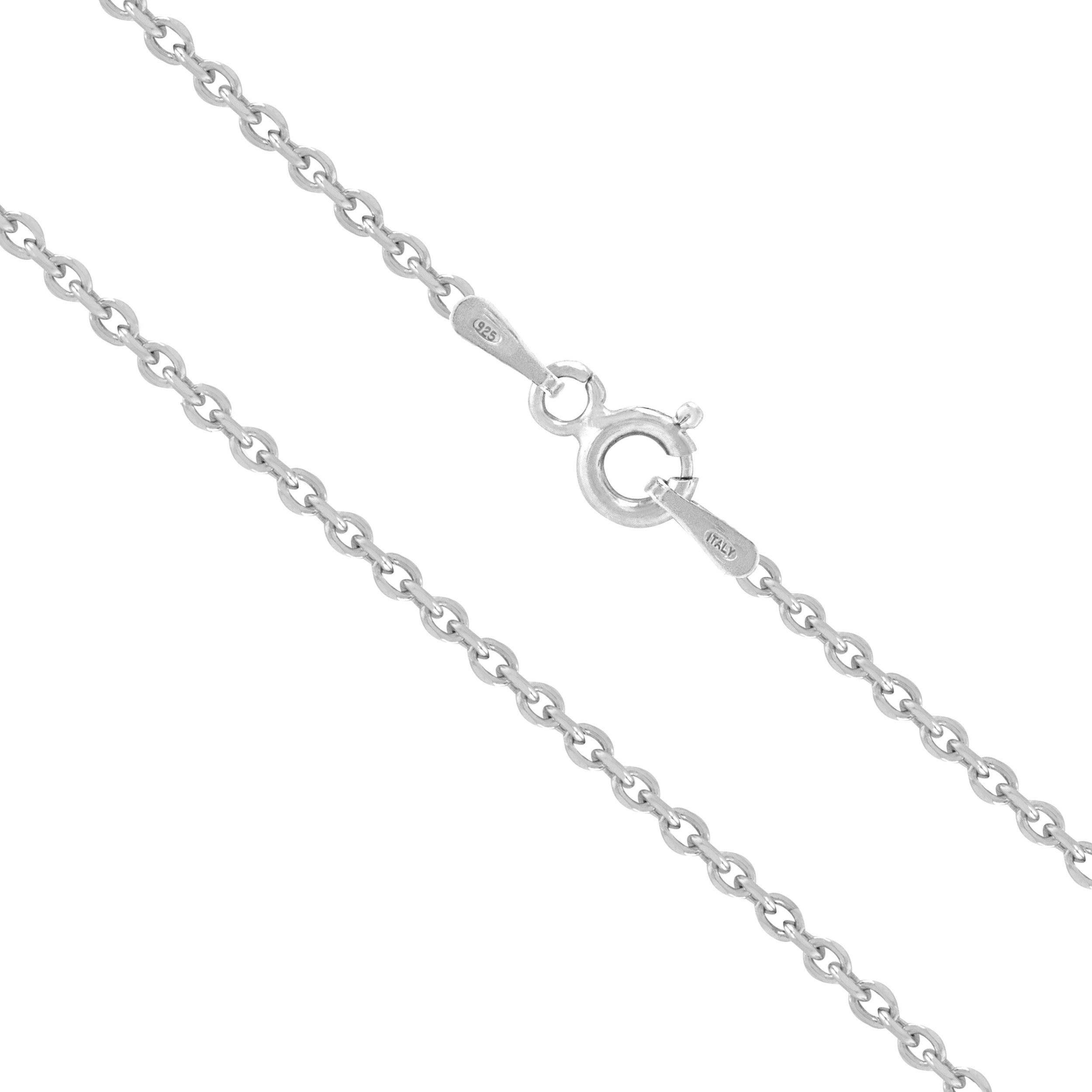Honolulu Jewelry Company Sterling Silver 1.5mm Cable Chain (20 Inches)