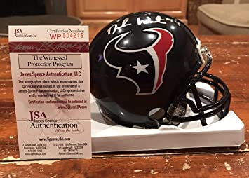 5ba32d39f7c Deshaun Watson Autographed Signed Houston Texans Riddell Mini Helmet  Witness Memorabilia - JSA Authentic