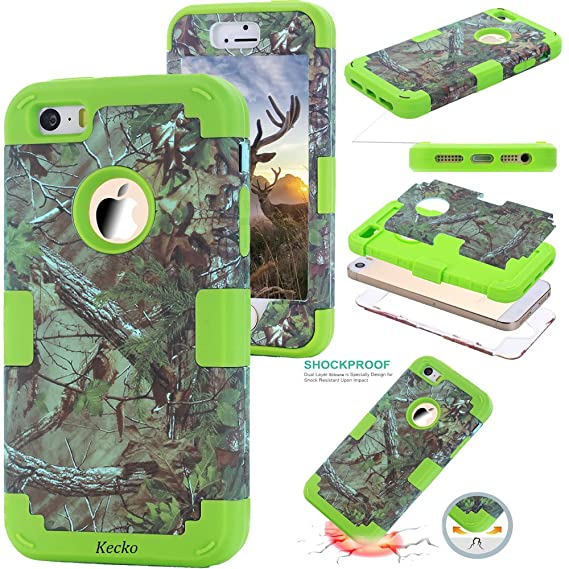 pretty nice 1758a 19aac iphone SE/5S bling case,iphone 5 Camo Case for Girls,KeckoDual Layer Heavy  Duty Tree Camo Shockproof Impact Resistant Military Grade Rugged Hybrid ...